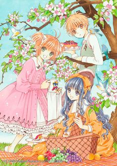 The Nakayoshi 60th Anniversary edition of Card Captor Sakura has exclusive digital contents and each volume includes a never before released illustration drawn by CLAMP. Here are the ones that came with volumes 5 and 6 (right). CLAMP originally drew them for the Card Captor Sakura mobile game during 2013 and 2014.   Also, the textless cover illustrations from volumes 5 and 6 (left).  Please support CLAMP by buying the original or licensed material if you can.  © CLAMP・ShigatsuTsuitachi…