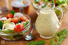 Had a creamy mustard maple dressing at Tupelo Honey Cafe in Asheville, NC, and have been thinking about it ever since!  Maybe this is it..