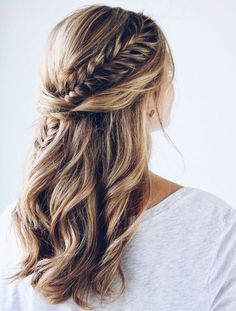 Most Loving Long Layered Hairstyles with Little Braids for Prom