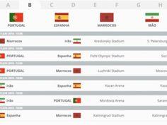 Confira os grupos e o calendário do campeonato do mundo de futebol que decorre de 14 junho a 15 de julho de 2018 na Rússia. Portugal está no Grupo B. http://sicnoticias.sapo.pt/especiais/mundial-2018/2017-12-01-O-calendario-do-Mundial-2018-1