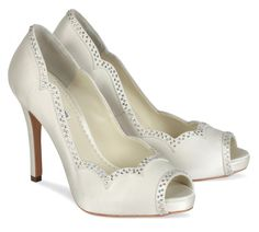 5 Peep toe wedding shoes ivory for bridals (5)