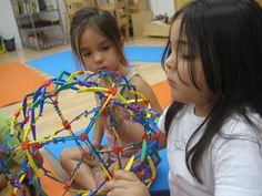 Using a Hoberman Sphere to explain body functions when breathing