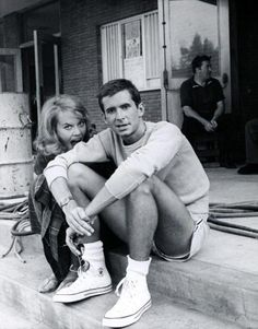 Jane Fonda and Anthony Perkins