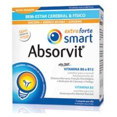 Absorvit Smart Extra Forte 30 ampolas é um suplemento alimentar que atua ao nível do Sistema Nervoso Central ajudando no combate do cansaço cerebral e físico e contribui para um desenvolvimento a nível de concentração e memória, aumentando assim a capacidade intelectual e de aprendizagem e diminuindo a fadiga física e mental.