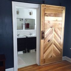Super WOW!! Great job @eseaton123  Fabulous barn door!! Also this  is so close to my own master bedroom plan that I am even more in love!! Want to be featured?  Hashtag your very best DIY, decor, genius idea, high quality pictures (please no collages) with #imaremodelaholic I will share my favorites!  Thanks!