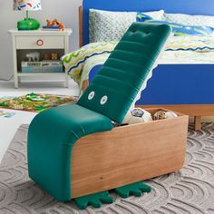 kids furniture Alligator Upholstered Storage Ottoman by Drew Barrymore Flower Kids Image 10 of 10 Kids Room Furniture, Retro Furniture, Sofa Furniture, Pallet Furniture, Furniture Makeover, Furniture Storage, Furniture Online, Ottoman Storage, Furniture Design