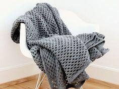 DIY tutorial: Gehaakte deken met schaakbordpatroon zelf maken via DaWanda.com