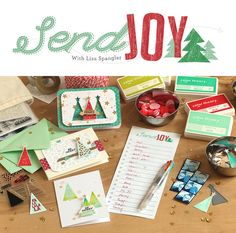 Handcrafted greeting cards & tags - Christmas card making class with Lisa Spangler @studio_calico