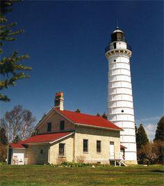 Cana Island Lighthouse Wisconsin- We chartered a plane to fly us over the lighthouses & Cana Island Lighthouse Door County Wisconsin | Door County ... Pezcame.Com