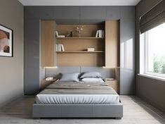 Bedroom Storage For Small Rooms - Unity Fashion Small Bedroom Storage, Small Master Bedroom, Small Bedroom Designs, Bedroom Bed Design, Small Room Design, Home Bedroom, Bedroom Decor, Small Bedroom Wardrobe, Small Modern Bedroom