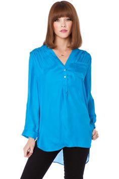 Grenelle Blouse in Blue / ShopSosie #blouse #blue #tops #shopsosie