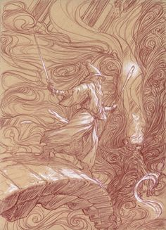 juliedillon: Sketches fromMiddle-Earth: Visions of a Modern Mythby Donato Giancola. More sketches can be seen at his blog post on Muddy Colors.