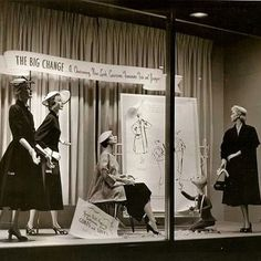 "Christian Dior 1951window display. This window was done in 1951 and it was a take off of Christian Dior's ""New Look"" #christiandior #1951#old #oldwindowdisplay #window #store#shop #storewindow #shopwindow #windowdisplay #vm#visual#visualmerchandising #interiors#interiordecor#interiorinspiration #visualarchitects #interiordesign #design#designer #retail #retaildesign #instagram #instalook #vitrin#vitrine #vetrine #vitrin_dergi"