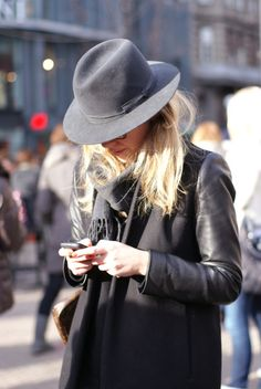 black coat. leather sleeves. yes please! #AGJewelry  #theseareafewofmyfavoritethings