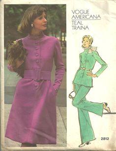 Vogue 2812 Vintage Designer Sewing Pattern by Teal Traina.