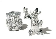 Disney Mickey Fantasia Salt and Pepper Set by Disney. $19.99. Food-safe aluminum alloy. To preserve finish, hand wash with warm water, towel dry. One Disney mickey fantasia salt and pepper set. Disney animated character designs. Disney mickey mouse collection designed to commemorate mickey's 80th birthday. Take extra pleasure in entertaining with these licensed Disney mickey mouse fantasia salt and peppers. These salt and peppers feature the shapes of Disney icon, mickey mouse...