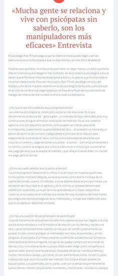 Entrevista a Iñaki Puñuel . Artículo completo en http://sobreviviendoapsicopatasynarcisistas.wordpress.com/2014/12/18/mucha-gente-se-relaciona-y-vive-con-psicopatas-sin-saberlo-son-los-manipuladores-mas-eficaces-entrevista/