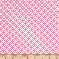 Designed by Maria Kalinowski for Kanvas in association with Benartex, this cotton print fabric is perfect for quilting, apparel and home decor accents. Colors include pink and white.