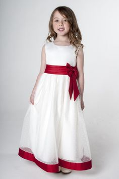 Red Bow Flower Girl Bridesmaid Dress available in other colours, please see our website. UK supplier ships worldwide.