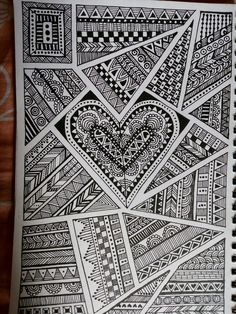mandala doodle drawing zentangle patterns draw simple mandalas doodles pattern sharpie coloring zentangles flower practice creative easy hercottage drawings tangle