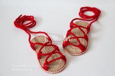 Sandalias bebé gladiador botines zapatos por EditaMHANDMADE en Etsy