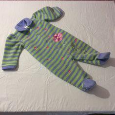 c2da308c2 Little Me Infant Blanket Sleeper Baby Girl 6 Month Warm Purple Green  Flowers PJs #LittleMe
