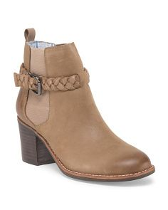 Leather Liberty Buckle Bootie