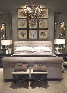 The Master Bedroom Painting. 20 the Master Bedroom Painting. Our Freshly Painted Master Bedroom with Contrast Trim Gray Bedroom, Master Bedroom Design, Home Bedroom, Bedroom Designs, Master Bedrooms, Master Bed Room Ideas, Master Bedroom Chandelier, Bathroom Chandelier, Mirror Bedroom