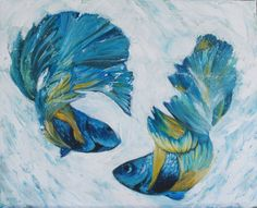 Items similar to Pisces on Etsy Pisces, Art For Kids, Artsy, Painting, Art Kids, Fish, Painting Art, Paintings, Paint
