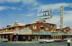 El Cortez, Las Vegas, 1960. The oldest privately owned casino in Las Vegas, built in 1941. It was run briefly in the 1940s by Busgy Seigel, Lansky, Greenbaum, and other mobsters, who sold the joint and invested in the Flamingo.