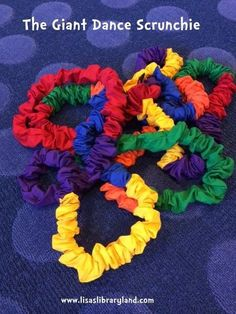 Libraryland: The Giant Dance Scrunchie Great activity suggestions for the stretchy band and connect-a-band!