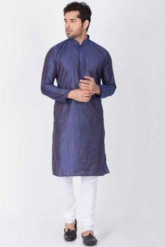 Readymade Cotton,Silk Kurta Pajama In Persian Blue Eid Dresses, Pakistani Dresses, Indian Dresses, Persian Blue, Cotton Silk, White Cotton, Online Collections, Two Pieces
