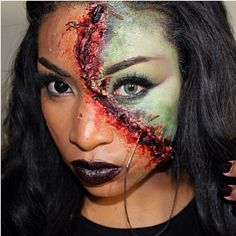 Love this #Freakishly #Scary creation by ✨@Irishcel Puello✨  with #FlutterLashes in #Nicki from Xtreme Collection Visit us at www.FlutterLashes.com #halloween #halloweenmakeup #makeup