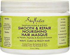 Shea Moisture Tahitian Noni & Monoi Hair Masque Mascarilla hidratante, nutritiva y reparadora. Natural. Sin sulfatos, parabenos ni siliconas. www.rizadoafroymas.es