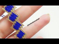 Diy Jewellery Designs, Bead Jewellery, Jewelry Design, Seed Bead Tutorials, Beading Tutorials, Cuff Bracelets, Beaded Jewelry Patterns, Peyote Patterns, Bead Jewelry