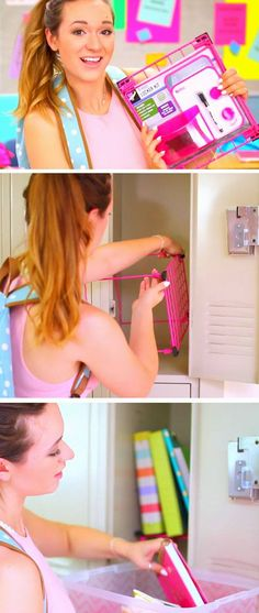 Locker Shelf | 15 DIY Locker Organization for School Girls