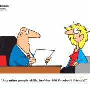Any other people skills, besides 400 Facebook friends?