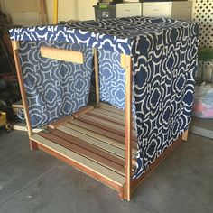 My sons new cabana sandbox. My dad built the sandbox and frame (floor folds into benches) and my mom sewed the material for the cover and curtains. Used an outdoor fabric to protect him from the sun and might even be able to attach some misters we have to help with the Arizona heat! #sandbox #playoutside #cabana