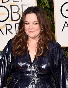 Stunning: Melissa McCarthy at the 2016 Golden Globes