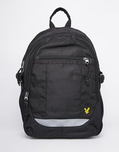 """Backpack by Lyle & Scott Smooth outer Grab handle Zip around opening Internal compartment External zip pockets Padded, adjustable shoulder straps Wipe with a damp cloth 100% Polyester H: 40cm/16"""" W: 27cm/11"""" D: 12cm/5"""""""