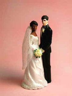 Large selection of interracial cake toppers. Awesome. || Interracial Cake Top (Dark Brown/Caucasian) - Our Special Day