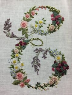 Floral Monogram - Hand Embroidery