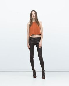 ZARA - WOMAN - COATED 5-POCKET JEANS