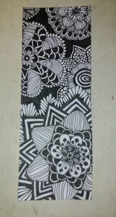 Zentangle bookmark