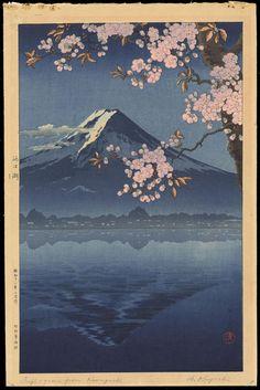 Koitsu, Tsuchiya (1870-1949) - Lake Kawaguchi - 河口湖