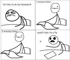 Its a Fly.... That don't Let Me Finish My Homework. - Posted in Funny, Troll comics and LOL Images - LOL Heaven