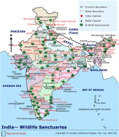 India Wildlife Sanctuary Map