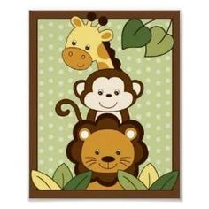 safari baby shower | Print Jungle Safari Friends Baby Shower or Birthday Invitations