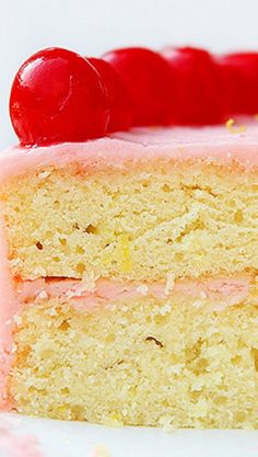 Limeade Cake with Cherry Buttercream