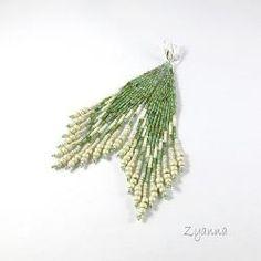 www.polandhandmade.pl #polandhandmade #beading #zyanna  kolczyki,etniczne,indiańske,matowe - Kolczyki - Biżuteria